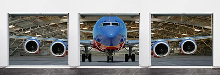 garage door decals jumbo plane multiple garage