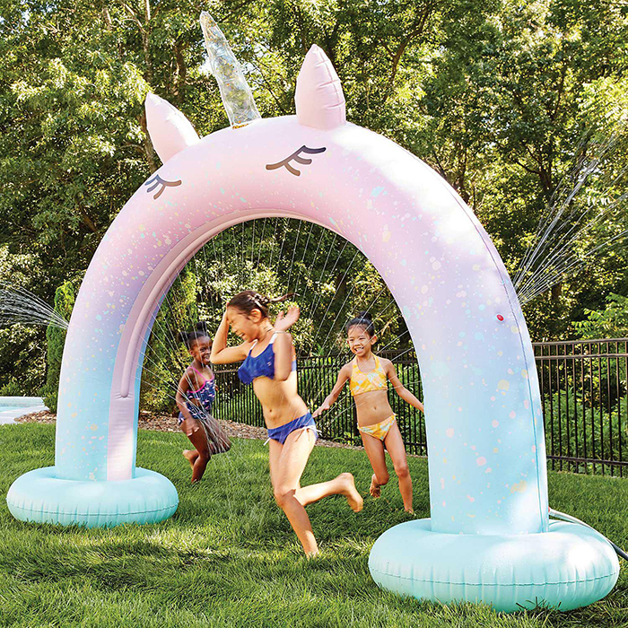giant unicorn arch sprinkler summer toy