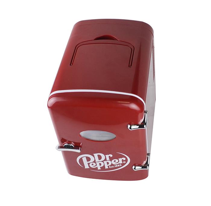 hidden top handle of the dr pepper mini fridge