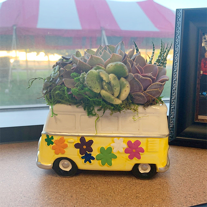 hippy van inspired planter