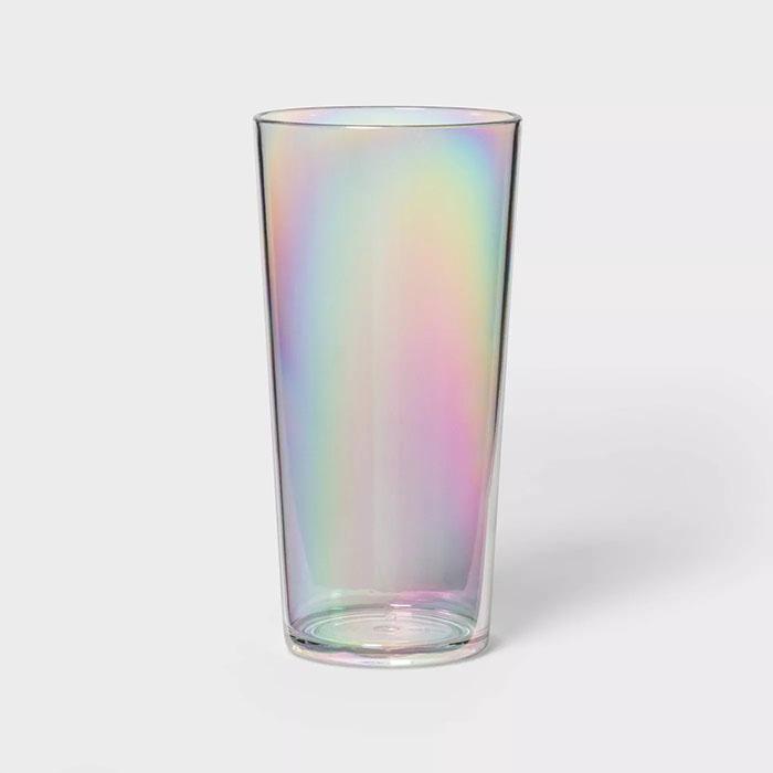 iridescent 22oz plastic tumbler