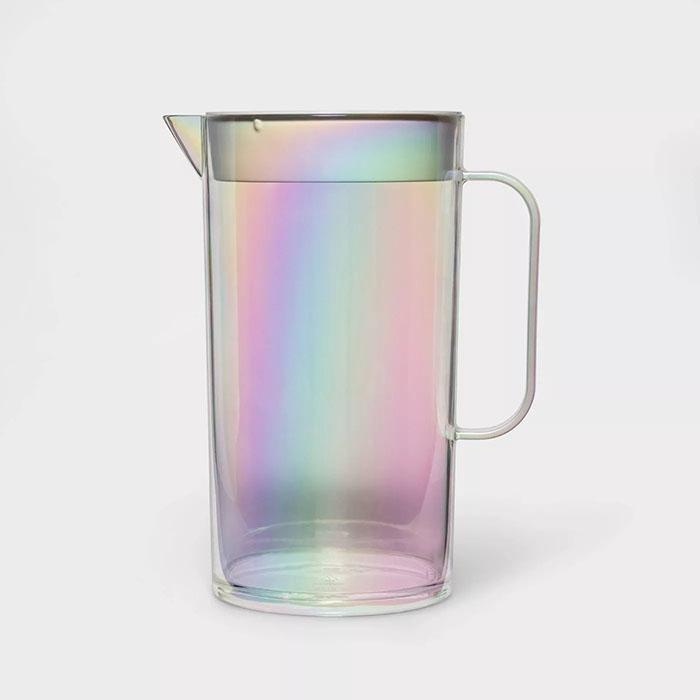 iridescent drink pitcher