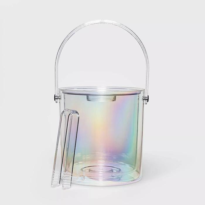 iridescent ice bucket