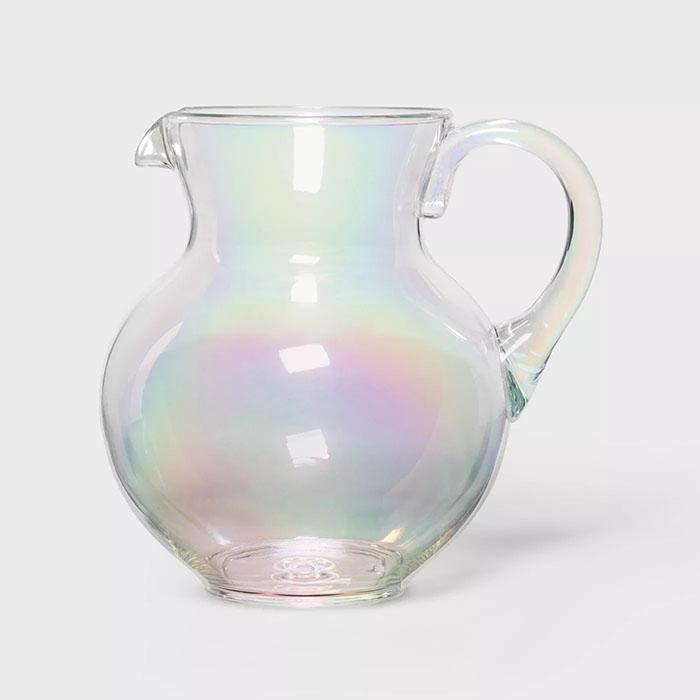 iridescent margarita pitcher