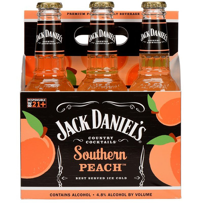 jack daniel's southern peach 6-pack