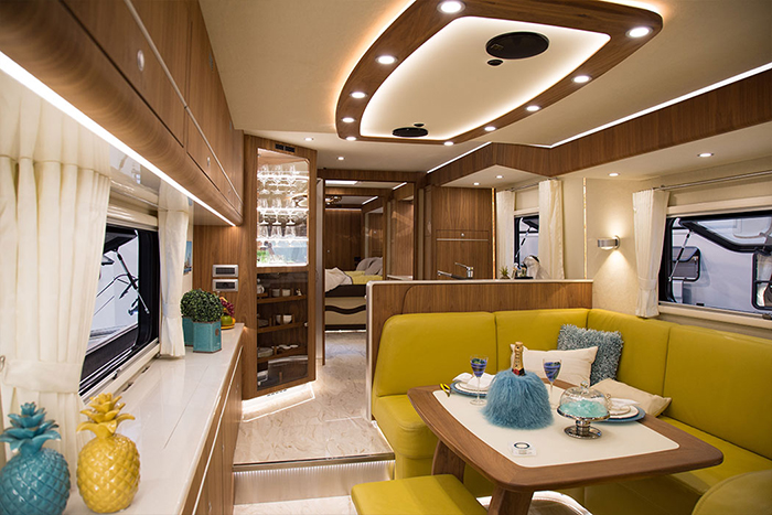 luxury motorhome sample interior
