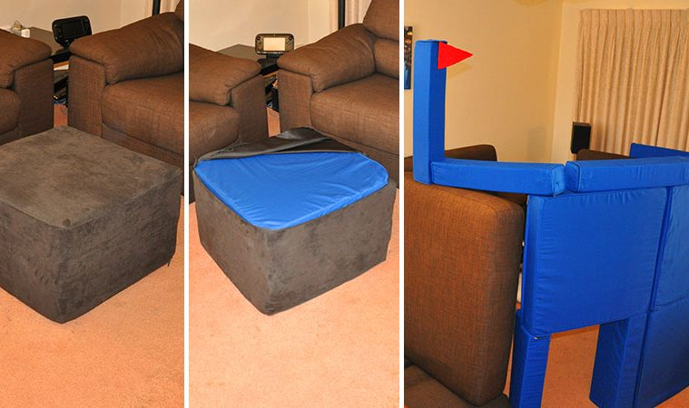 magnetic pillow fort cushions