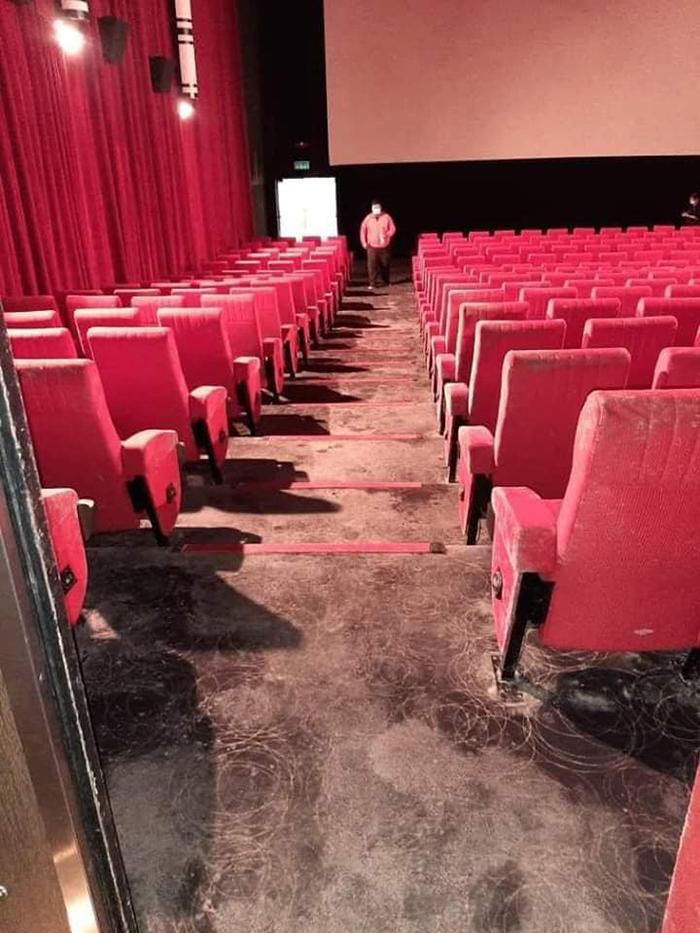 malaysian cinema seats and floor mildew