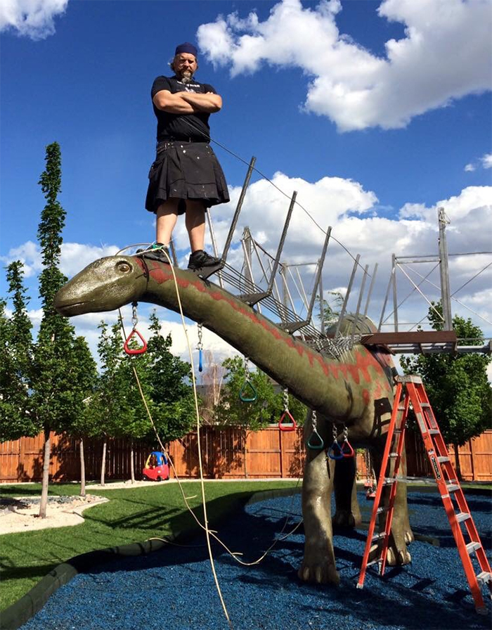 matthew cosman dinosaur jungle gym strength test
