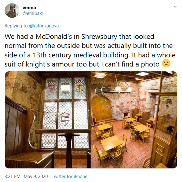 medieval design interior fast-food shewsbury