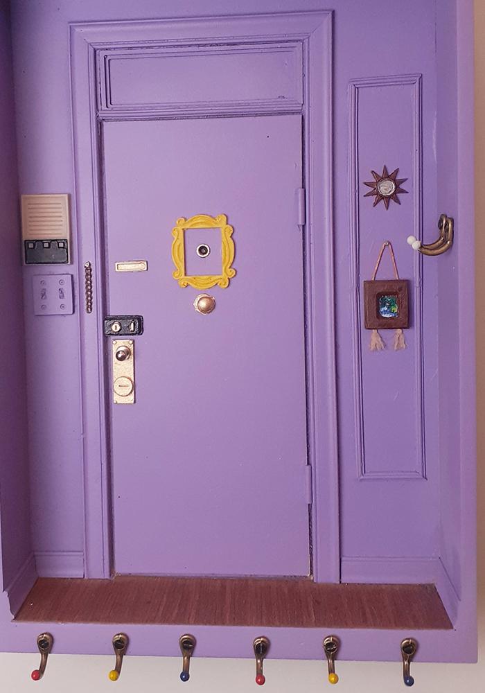 monica purple door replica key holder