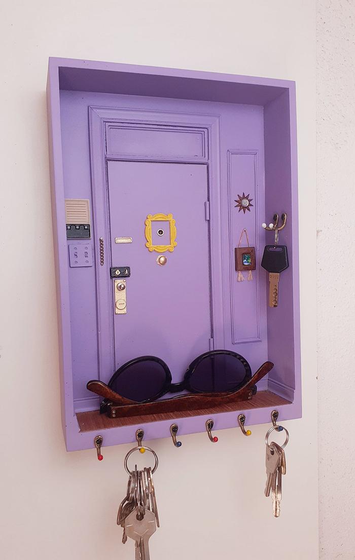 monica purple door replica wall key holder
