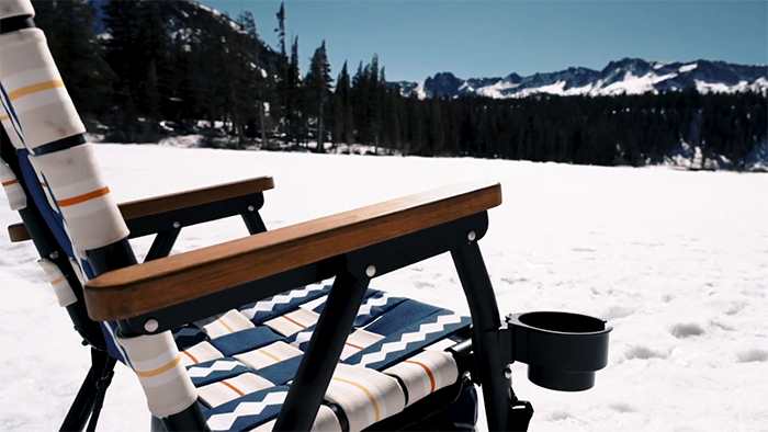 multi-purpose outdoor chair with cup holder