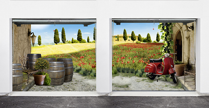 multiple garage poster landscape