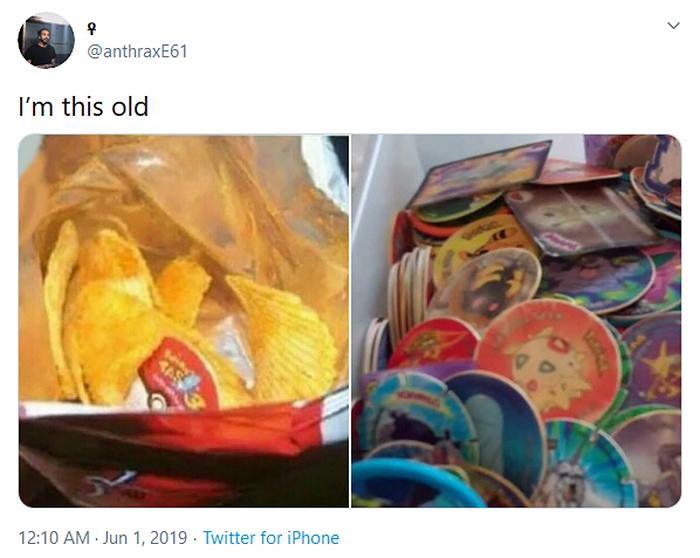 nostalgia 90s things pokemon cards snack freebies