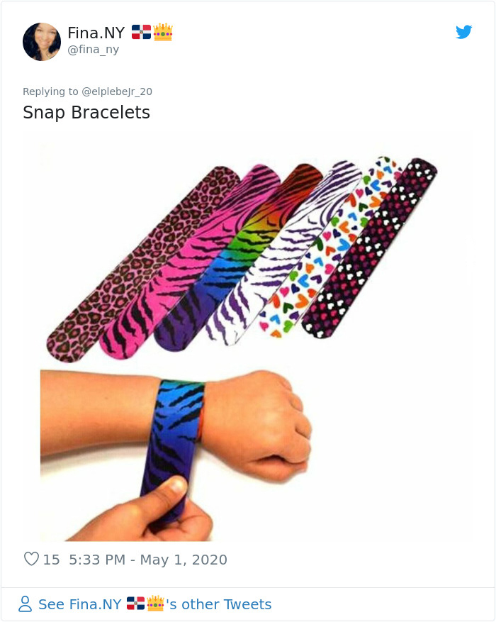 nostalgia 90s things snap bracelets
