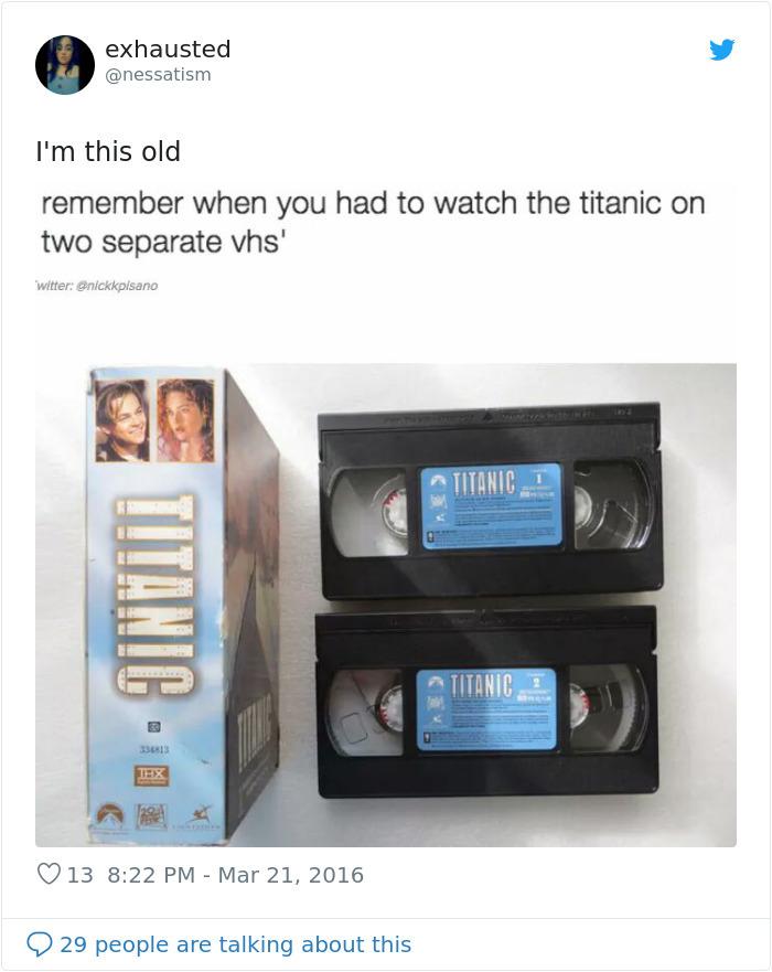 nostalgia 90s things vhs titanic movie