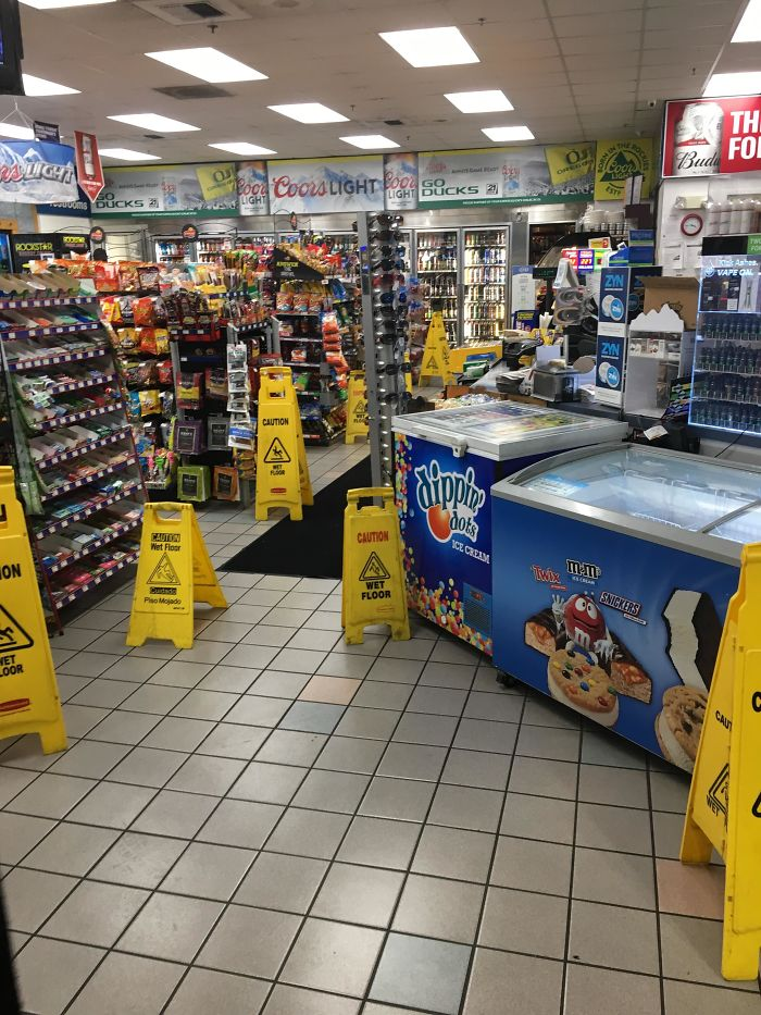 not enough wet floor signs