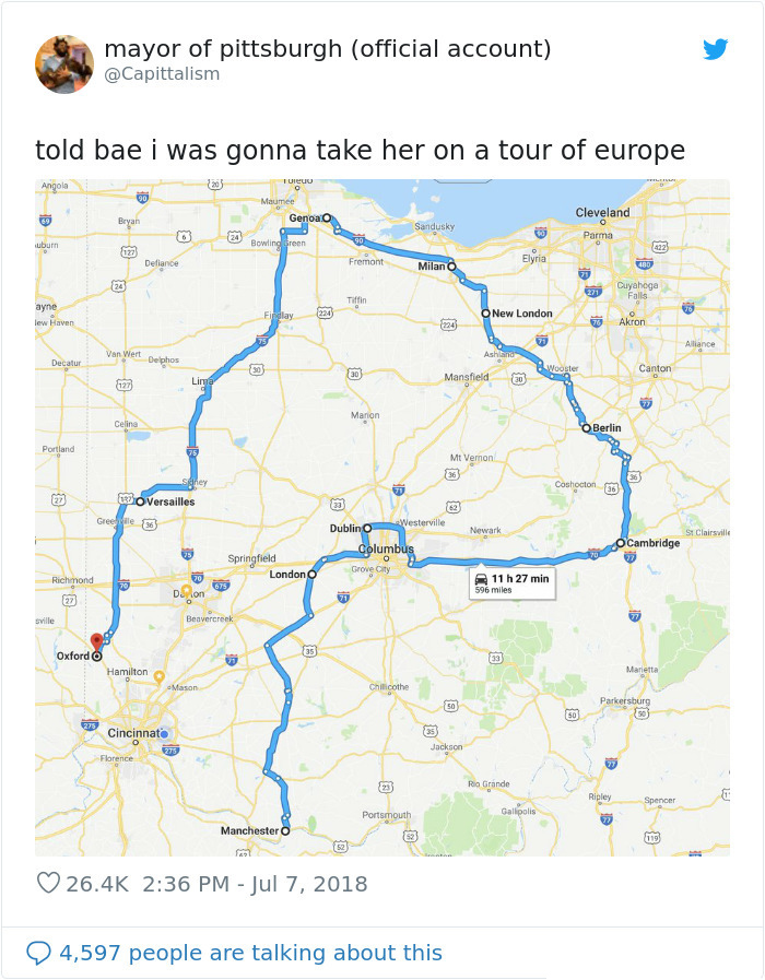 ohio european name cities tour