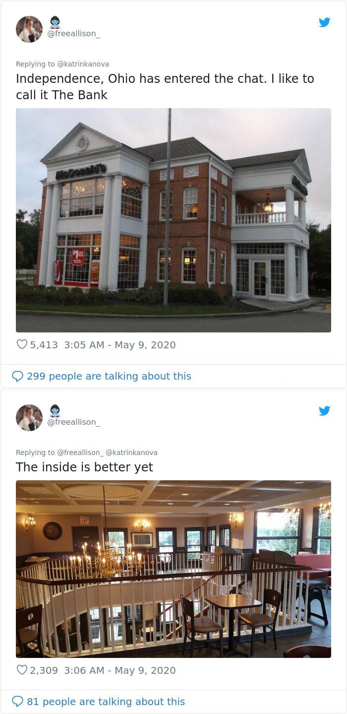 ohio old bank fast-food restaurant
