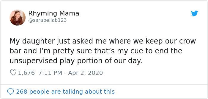 parenting tweets crow bar