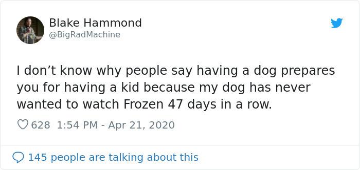 parenting tweets dog