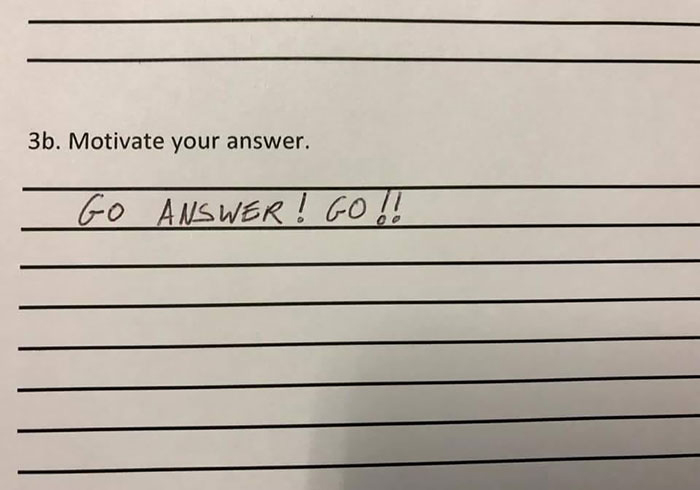 people take instructions literally go answer