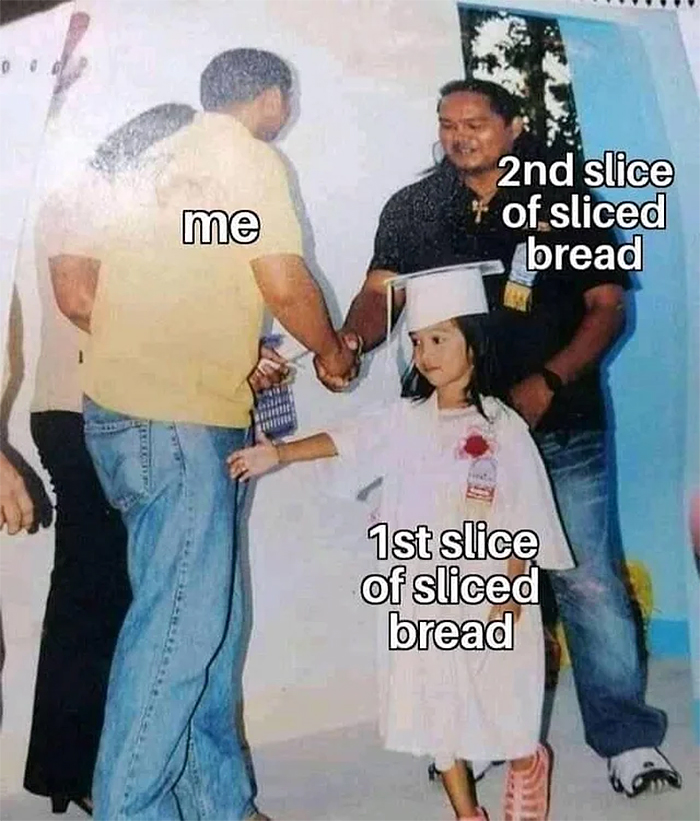 picking the second slice of bread