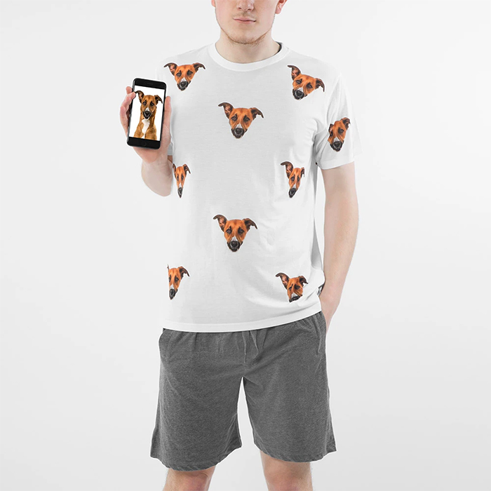 pyjama set with dog's face men