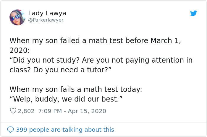 quarantine homeschool failed math thest