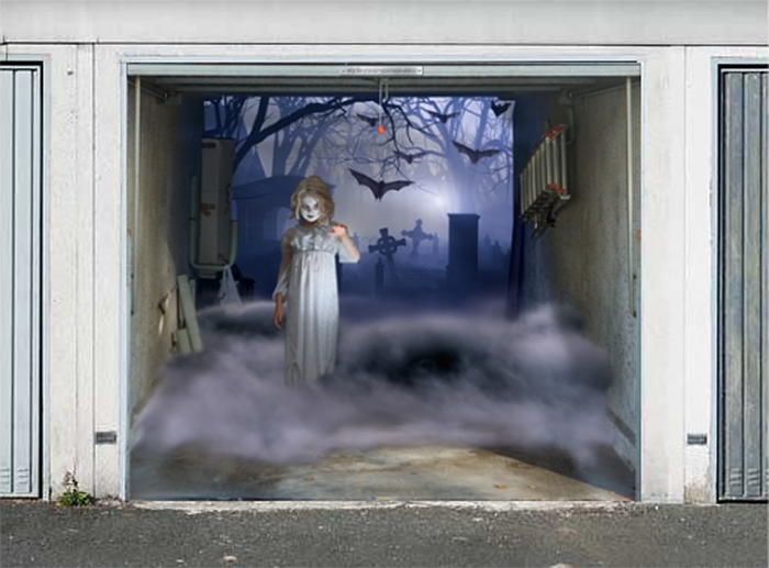 realistic poster halloween edition gothic girl
