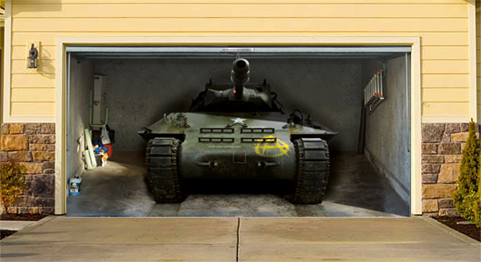 realistic poster xxl garage military tank