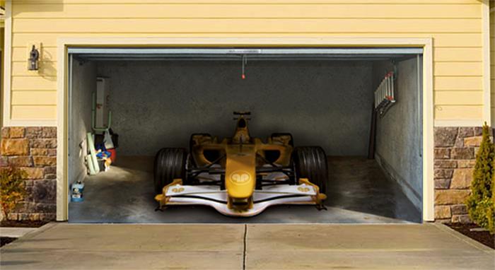 realistic poster xxl garage racing car