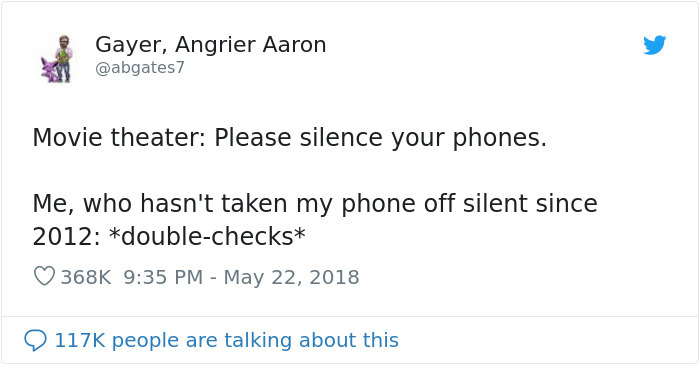 silent phones in movie theater