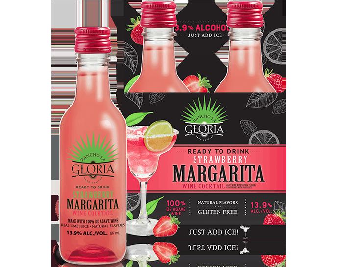 small bottle strawberry margarita