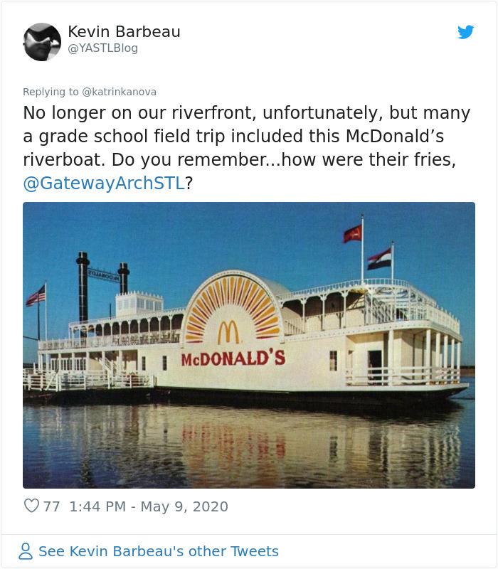 strange mcdonald's classic riverboat