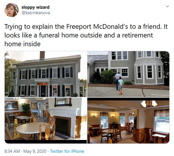 strange mcdonald's freeport gore house