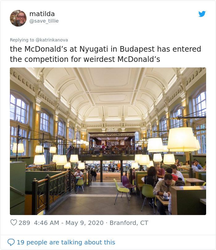 strange mcdonald's nyugati budapest