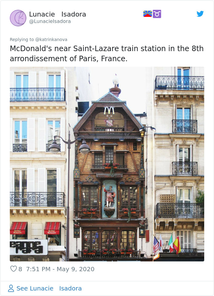 strange mcdonald's saint lazare station