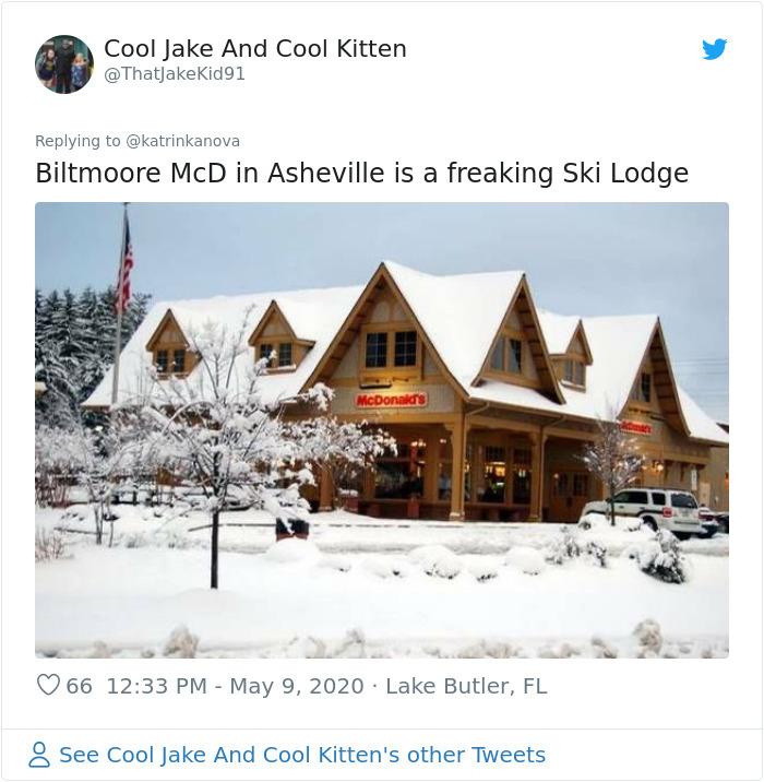 strange mcdonald's ski lodge asheville