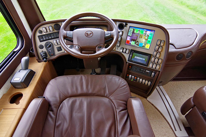the driver's seat