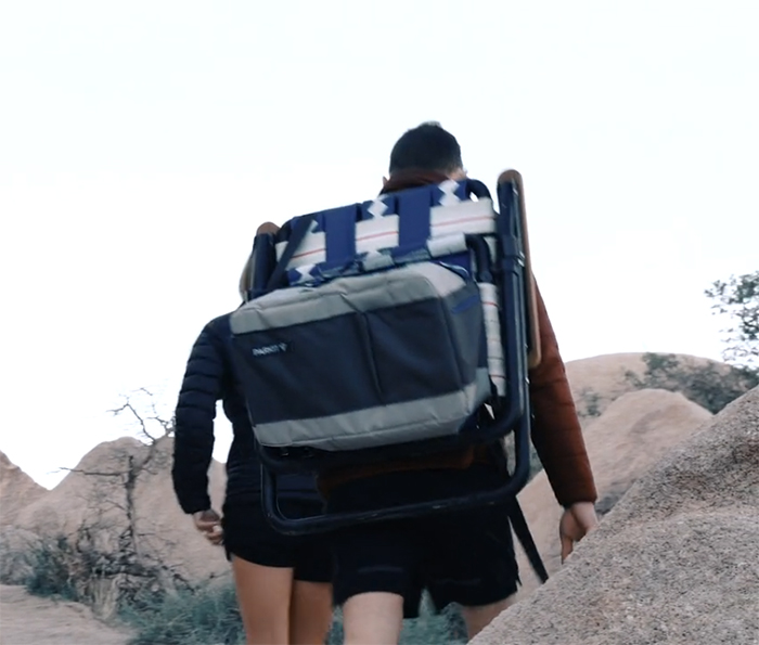 the voyager 3-in-1 lawn chair as a backpack