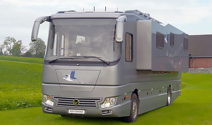 volkner mobil performance s luxury motorhome with slide-out wall