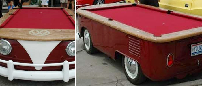 volkswagen pool table hippy van