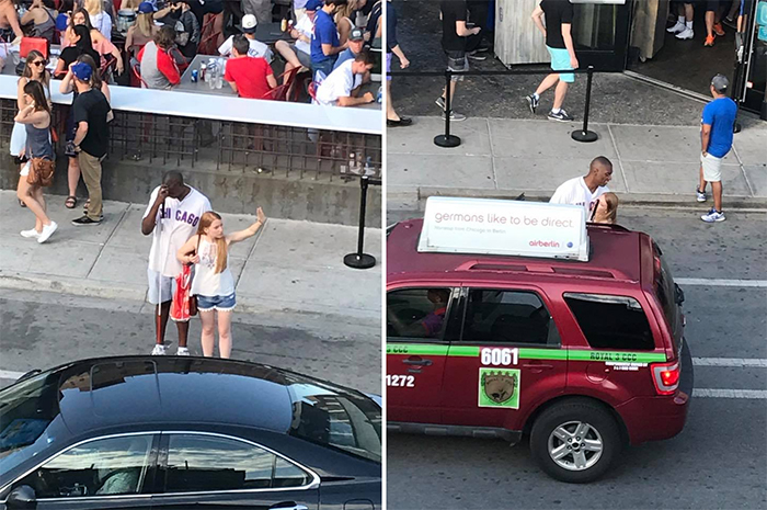 wholesome positive stories girl hails a cab for blind man