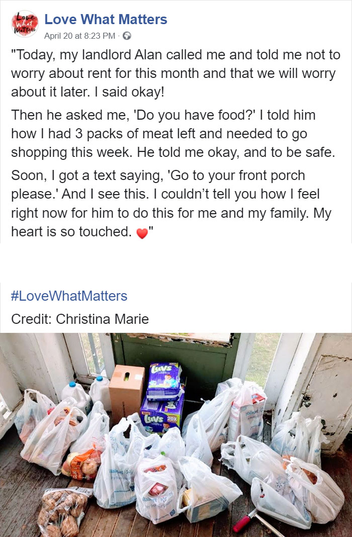 wholesome positive stories kindhearted landlord