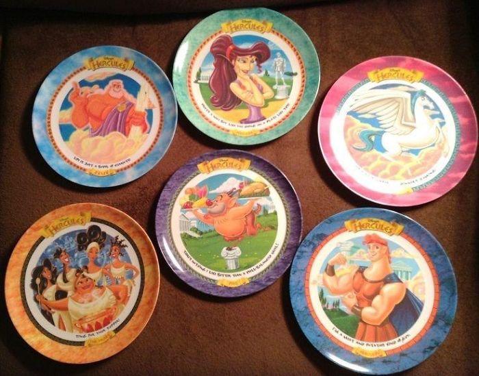 90s mcdonald's plates disney hercules