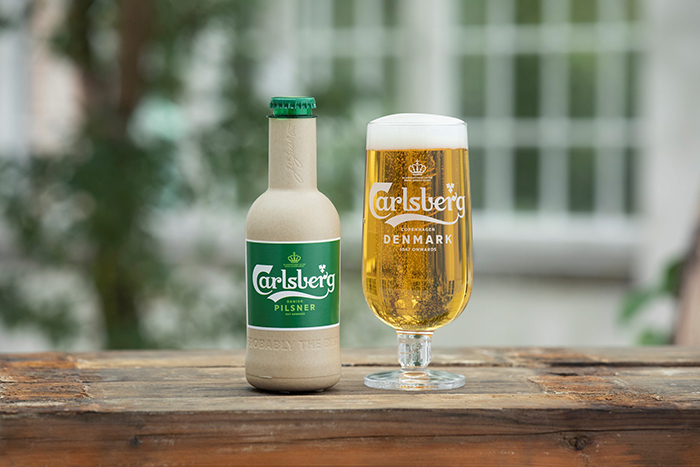Carlsberg Pilsner Green Fiber Plant-based Bottle Prototype
