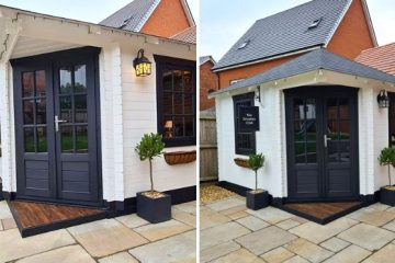 DIY mini pub in garden