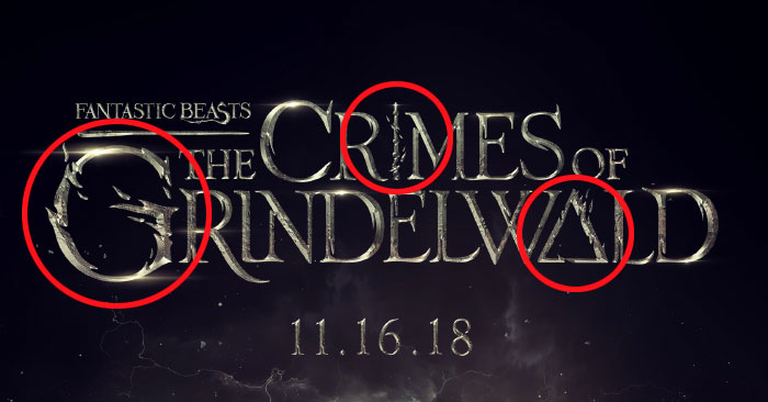 Deathly Hallows in Fantastic Beasts The Crimes of Grindelwald Title Logo